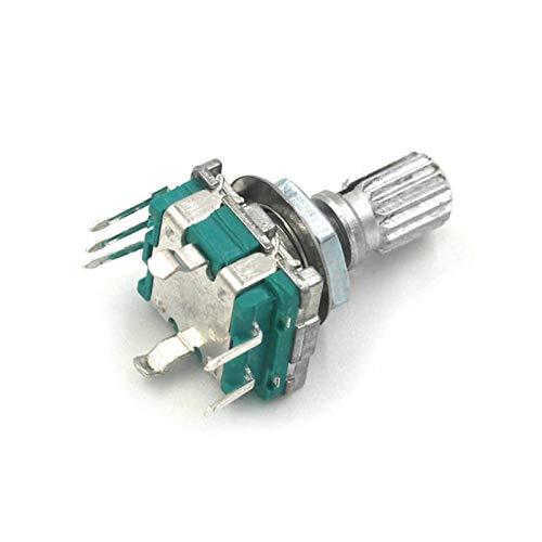 JSJJATQ Interruptores Codificador rotatorio de la Mitad/Plum del Eje de la Mitad del PCS, el Interruptor de código de la manija de 15 mm / 20 mm / EC11 / Potenciómetro Digital con Interruptor 5pin
