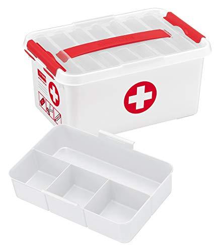 Sunware 79201604Erste-Hilfe-Schachtel mit Griff, 6l