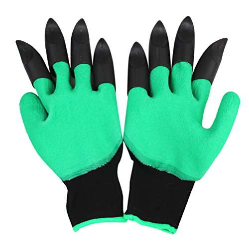 Zhhlinyuan Gardening Genie Glove - Waterproof ,Thorn Resistant Garden Gloves with Claws for Digging and Planting Unisex
