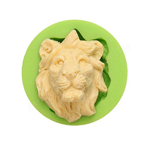 Small Size 3D Lion Head Face Shape Silicone Mold for DIY Chocolate Candy Cake Fondant Decoration Making Soap Candle Crayon Melt Resin Polymer Clay