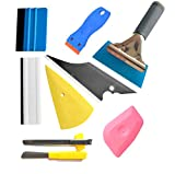 9PCS Vehicle Glass Protective Film Car Window Wrapping Tint Vinyl Installing Tool: 4 Inch Felt Squeegee,...