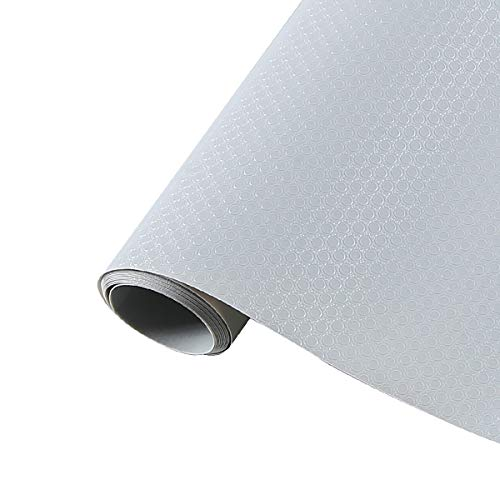 LOKIH Plastico Protector para Cocina Cajones Alfombras Non Adhesivo para Nevera Mueble Fregadero Estante Organizador Cubiertos EVA, 7 Colores A Elegir 60X1000cm,Gris