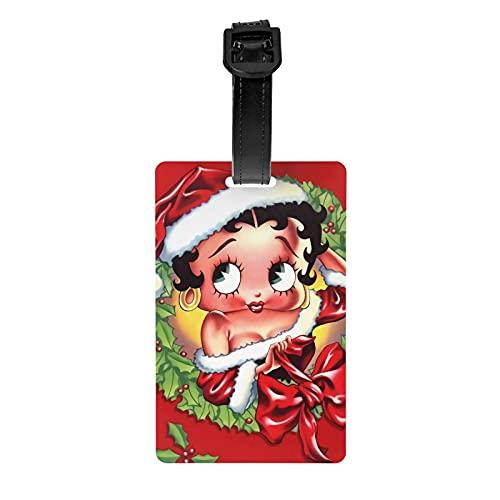 Betty Boop - Etiquetas para equipaje (bolsa de senderismo, dentificador)