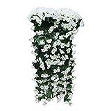 Alaso Fleurs Artificielles,Fausse Fleur, Fleur de Simulation Décoration de la Maison Chaque Mèche Artificiel Wisteria Fleur en Soie pour Mariage Décorations Home Garden Party Decor(85 cm)