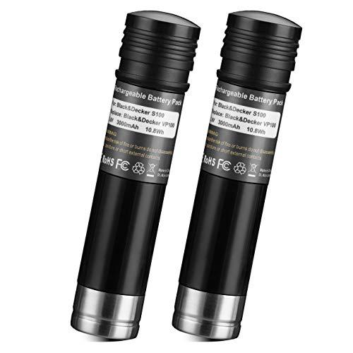 2Pack 3.6V 3000mAh Ni-Mh Replacement Batteries for Black and Decker Versapak Gold VP100 VP100C VP105 VP105C VP110 VP110C VP143 Vp142 Vp7240