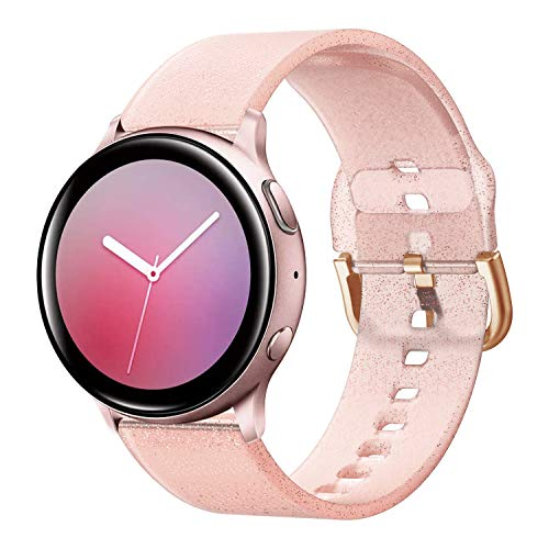 Syxinn Compatible con Galaxy Watch Active/Active2 40mm 44mm Correa de Reloj 20mm Silicona Banda de Reemplazo Pulsera para Galaxy Watch 42mm/Gear Sport/Gear S2 Classic/Ticwatch 2
