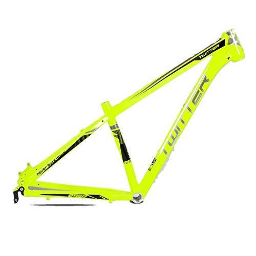 MAIKONG Aluminiumlegierung Mountainbike-Rahmen Vollaluminiumlegierung Leichter MTB-Rahmen Mountainbike-Rahmen 29er MTB-Rahmen Interne Kabelführung,Gelb,17