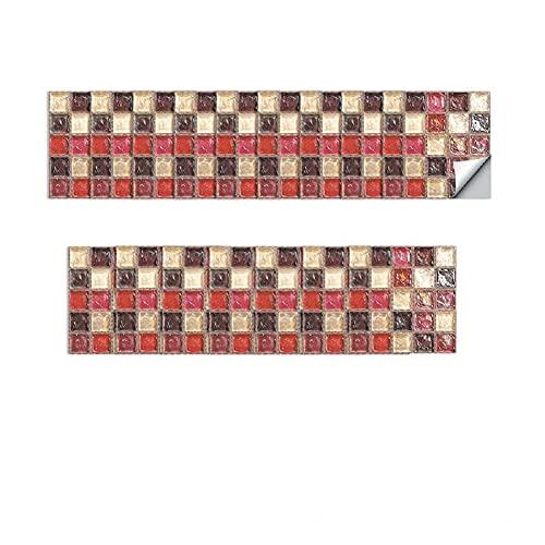 CONPEHRON Mosaico Adhesivo de Azulejo para Cocina Baño Pegatinas de Baldosas Stickers Azulejos Adhesivos, 10X10cm, 20 hojas, Mosaico 8