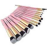 Maquillaje juego de brochas 14 cepillo profesional del maquillaje cantar y bailar T Uki brocha rubor sombra de ojos lápiz de cejas (Color : Pink)