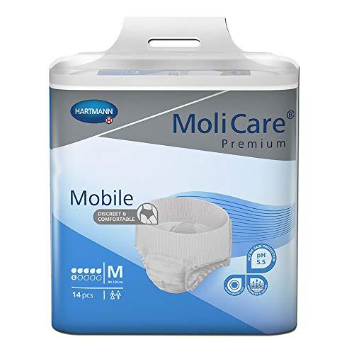 MoliCare Premium Mobile Einweghose: Diskrete Anwendung bei Inkontinenz für Frauen und Männer; 6 Tropfen, Gr. M (80-120 cm Hüftumfang), 14 Stück