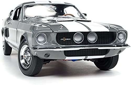 AUTO WORLD AMM1060 SHELBY MUSTANG GT-350 1967 MOUSE-grau W Weiß STRIPES 1 18