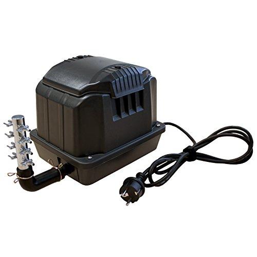 Kerry Electronics KEA3600 Belüfter/Luftpumpe/Membranpumpe für Teich & Aquarium 60l/min 3600l/h nur 35W - Hochleistungsgerät