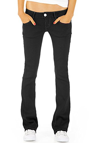 bestyledberlin Damen Jeans hüftige Jeanshosen, Bootcutjeans Low Rise Hüftjeans Stretch Hose j46kw 38/M
