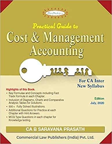 Padhuka's Students' Handbook On Cost And Management Accounting For Ca Inter New Syllabus - 4/E, July 2020