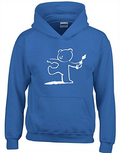 Crown Designs Teddy Bear Banksy Style Unisex Pullover Für Männer, Frauen Und Jugendliche (Königlich/3X-Large)
