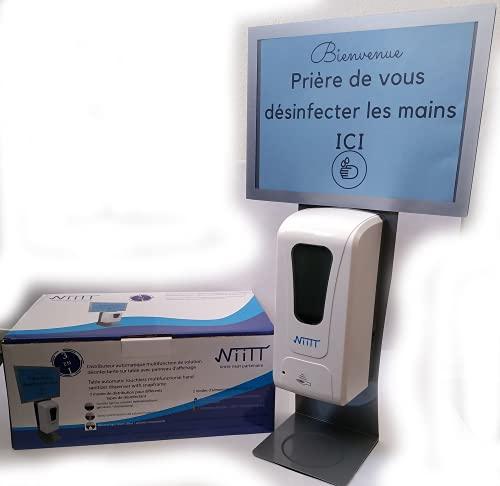 3en1 Distributeur de gel hydro/spray/mousse avec panneau d'affichage personnalisable Grande capacité 1litre adaptateur fourni et à piles garanti 1 an Multifonction 3en1