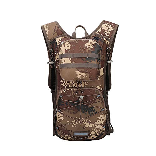 CGMZN Sac à Dos Durable 600D Backpack 12L Running Hiking Climbing Pack Cycling Bladder Bag Waterproof Outdoor Camping Bag
