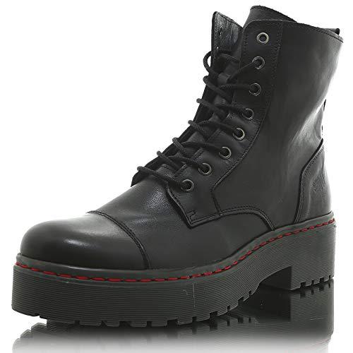 SHOOT Boot gefütterte Damen Stiefelette - FAB219001 Boot Black/Grey, 40 EU