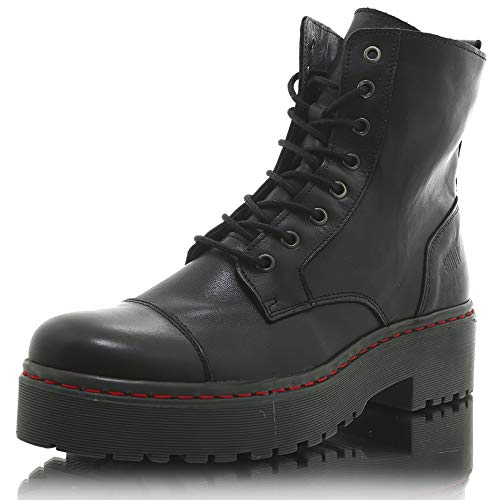 SHOOT Boot gefütterte Damen Stiefelette - FAB219001 Boot Black/Grey, 41 EU
