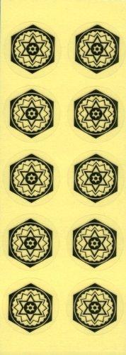 (ヒランヤ)ヒランヤ開運シール(10枚1シート) 六芒星 ヘキサグラム 六角形 ダビデの星 ヒランヤ・パワーグッズ (10)