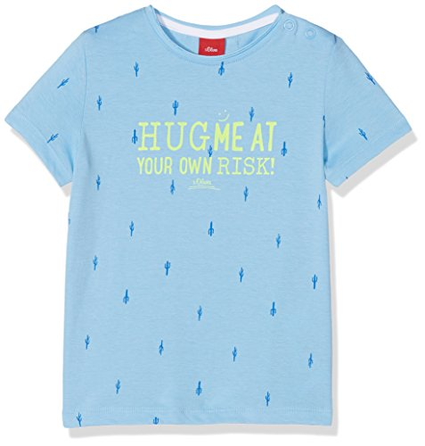 s.Oliver s.Oliver Baby-Jungen 59.806.32.5200 T-Shirt, Blau (Blue AOP 53a3), 74