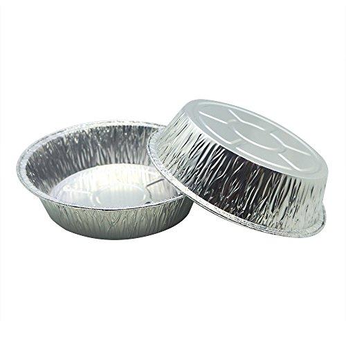 MYStar 5.8' Disposable Aluminum Foil (410 ml), mini size Pizza mold, Pie/Tart Baking Pans, Pack of 20