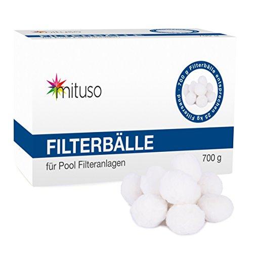 mituso Filterbälle, Filterballs, Filteranlagenzubehör, Quarzsand, 700g