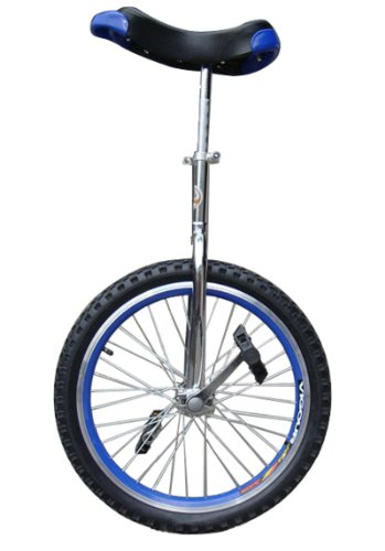 """fantasycart 24"""" Unicycle Cycling in & Out Door Chrome Blue with Skidproof tire"""