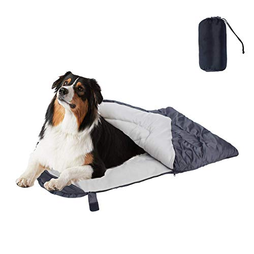 Cheerhunting Dog Sleeping Bag Waterproof Travel Large Portable Dog Bed with Storage Bag for Indoor Outdoor Warm Camping Hiking Backpacking Gear