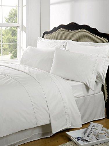 Highams Plain - Betthusse - 100 % ägyptische Baumwolle - Fadenzahl 230 - Weiß - Einzel