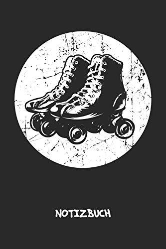 NOTIZBUCH: Notebook für Vintage-Fans 90er Kinder & Retro Liebhaber - klassisches Geschenk für Freundin und Freund | Notizheft in A5 (6x9 Inch) | ... | Vintage Rollschuhe Cover Motiv