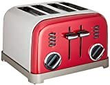Cuisinart CPT-180MRP1 CPT-180MR Classic 4-Slice Toaster, Metallic Red