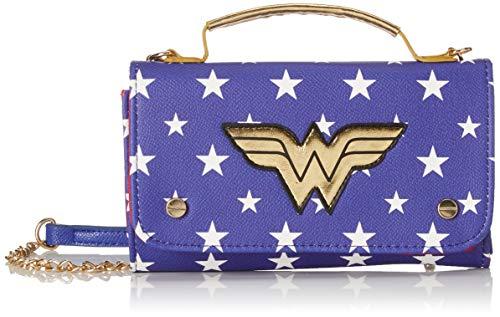 BIOWORLD MERCHANDISING Mini Sac À Main Dc Comics Wonder Woman, Damen Clutch, Blau (Bleu), 4x11x18 cm (W x H L)