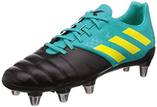 adidas Kakari (SG), Botas de Rugby para Hombre, Azul (Hi Res Aqua F18/Shock Yellow F18/Core Black), 44 2/3 EU