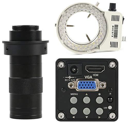 CY Fotocamera Digitale Industriale Digitale 14MP 1080P HDMI VGA Videocamera Microscopio + 130X Zoom Regolabile C Montare Lente + 56 LED LED (Color : B)