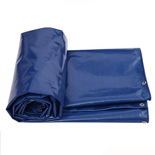 Toile d'ombrage SAP- Tissu étanche à la Pluie auvent de Protection Solaire Bâche imperméable à l'eau extérieure Stable (Color : Blue, Size : 6m*5m)