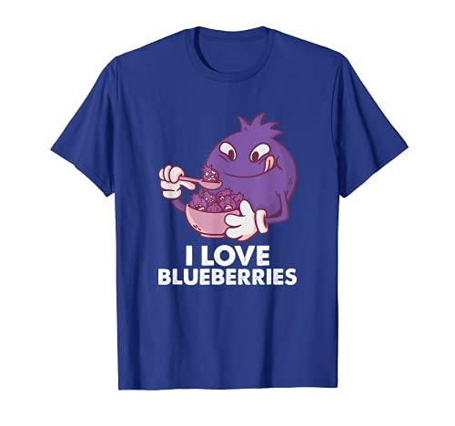 I Love Blueberries - Camiseta divertida de Navidad con diseo de arndanos Camiseta