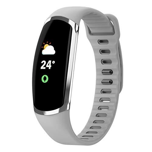 LTLGHY Smartwatch Damen Fitness Armband Tracker Sport Uhr Mit Pulsmesser Blutdruckmessung Armbanduhr IP68 Wasserdicht Schrittzähler Kalorienzähler Schlafmonitor Aktivitätstracker,Weiß