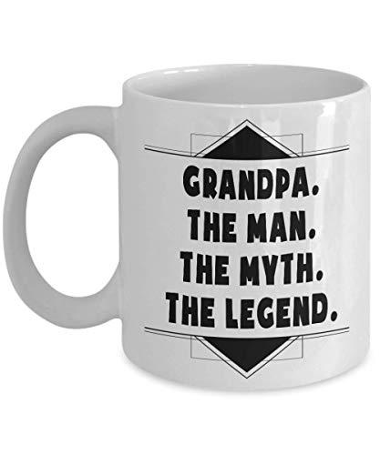 N\A Abuelo El Hombre El Mito La Leyenda, Revelación de Embarazo, Anuncio de bebé Taza de café, Gracioso, Taza, Té, Regalo para Navidad, Día del Padre, Navidad, Papá, ANN