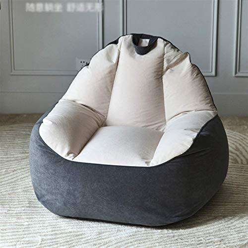Sheeouis Puf perezoso sofá hogar creativo perezoso silla reclinable dormitorio pequeño apartamento Tatami silla de respaldo individual balcón