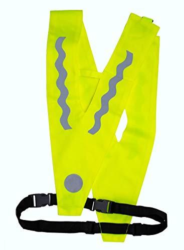REALflex-V II; Sicherheitskragen, Leuchtkragen für Erwachsene mit HÜFTGURT und Strangulierschutz