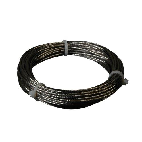 Liedeco Spannseil, Niroseil 10 m für Seilspanngarnitur | vernickelt