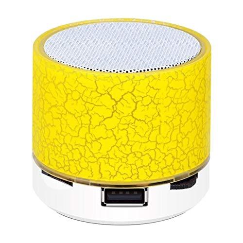 ZGMMM luidspreker, draadloos, Bluetooth, kleurrijk licht, luidspreker, audio-mobiele telefoon, mini-kaart, ondersteunt Geel