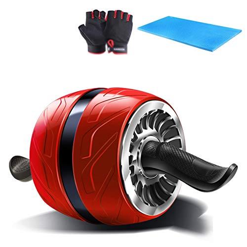 Material de gimnasio AB TRAINOUT, Equipo de ejercicios de rueda de rodillo AB para el entrenamiento de núcleo, con las almohadillas de la mano y la rodilla, el rodillo de la rueda de AB para el gimnas