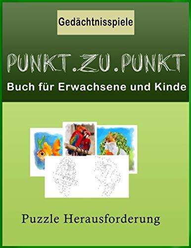 Punkt.zu.Punkt Buch für Erwachsene und Kinde Gedächtnisspiele Buch,Puzzle Herausforderung