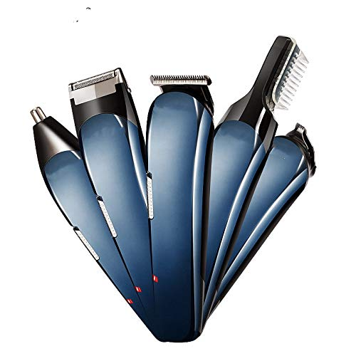 ECHOU afeitadora Hombre Profesional Multifuncional de Acero Inoxidable inalámbrico de Carga USB...
