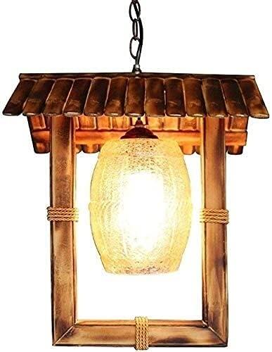 Dkdnjsk Iluminación de suspensión Lámpara Colgante Personalizada NOSTALGICA País Jardín Bambú Chandelier Vintage Hecho a Mano Café Sala de Estar Luz Colgante E26 / E27 Edison