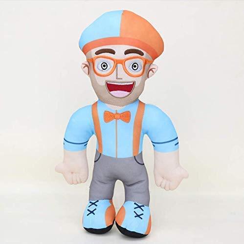 Dirgee Blippi plüschtier pädagogische Charakter blippi Cosplay Hut gefüllter Spielzeug Puppe telefonband Keychain Kinder Geschenk 32 cm