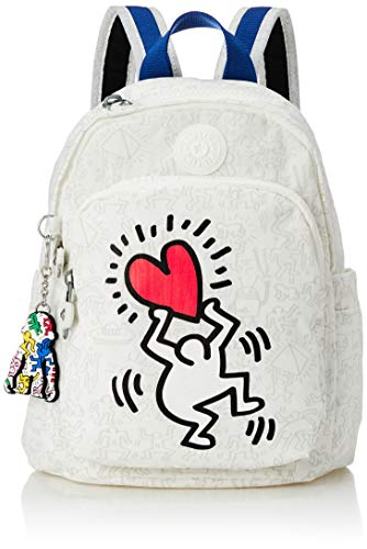 KIPLING Delia Mini Backpack, Women, KH Public Art (Red), S