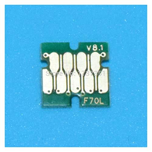 WSCHENG 6 Color IC80 Chip DE Reset Chip Uso Permanente para EPSON EP-977 EP-907 EP-807 EP-807 EP-777 Cartucho de Impresora